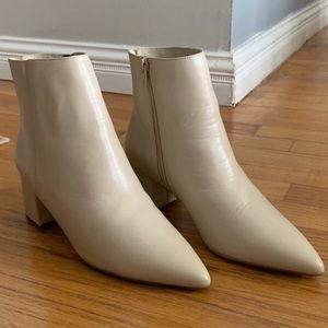Dune London cream booties